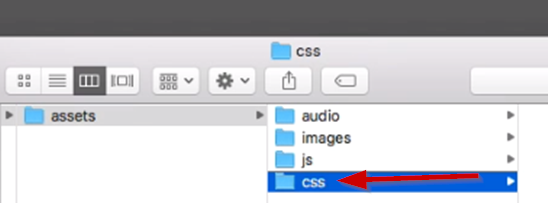 CSS folder added to Phaser project hierarchy